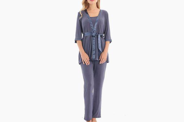 Bearsland 3 Piece Nursing Pajama Set