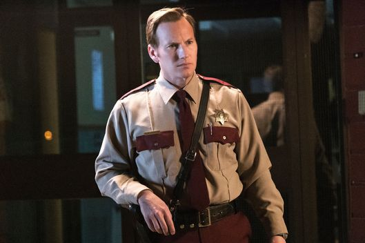 "FARGO -- ""Rhinoceros"" -- Episode 206 (Airs November 16, 10:00 pm e/p) Pictured: Patrick Wilson as Lou Solverson. CR: Chris Large/FX"