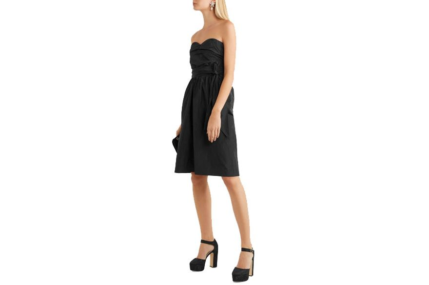 Alexa Chung Ruched Taffeta Dress
