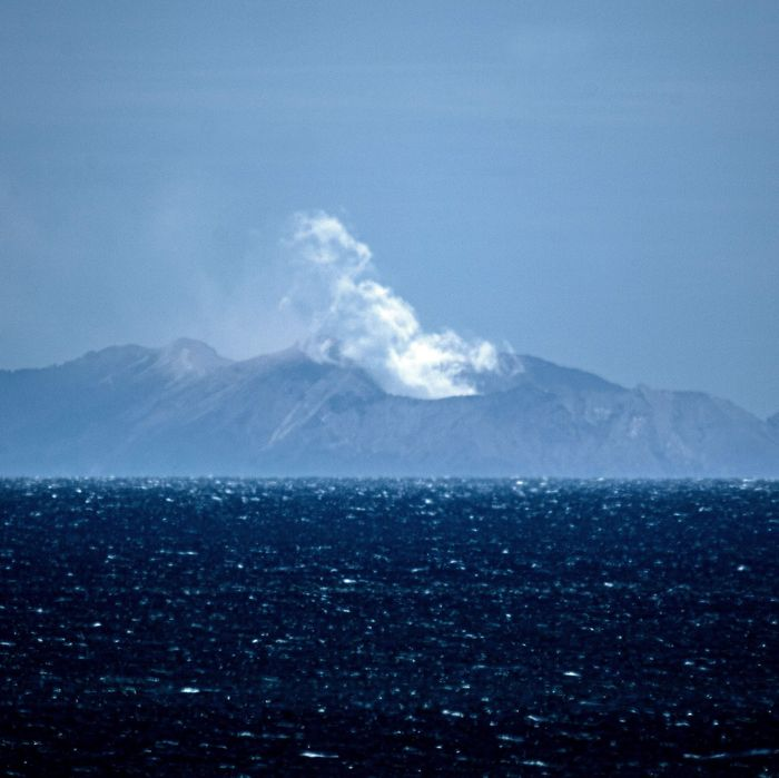 White Island volcano eruption in New Zealand.