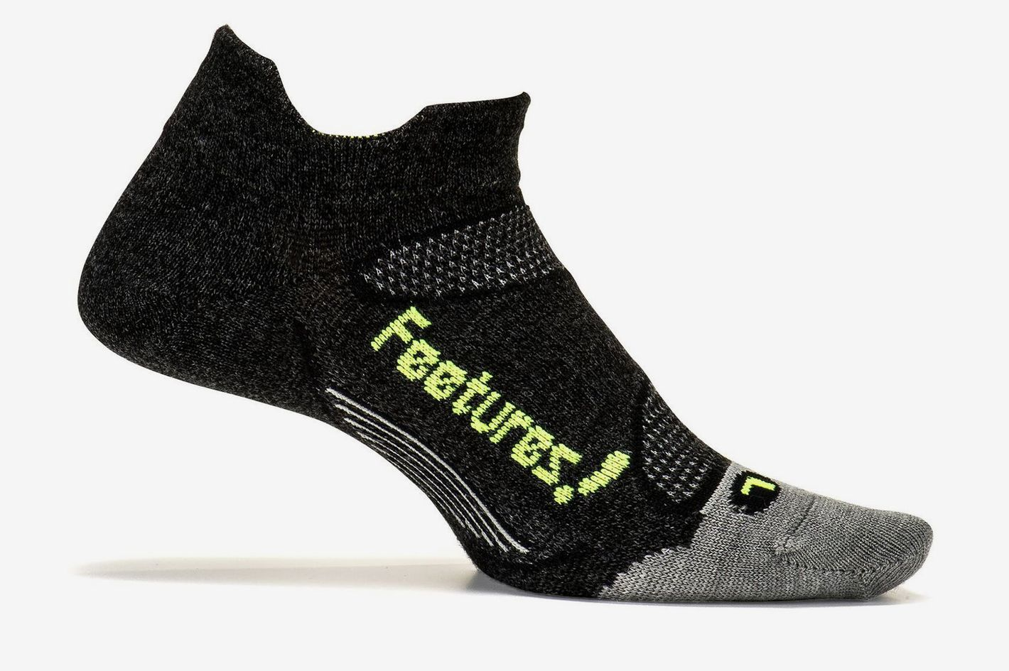 Feetures Merino+ Cushion No Show Tab Athletic Running Socks for Men and Women