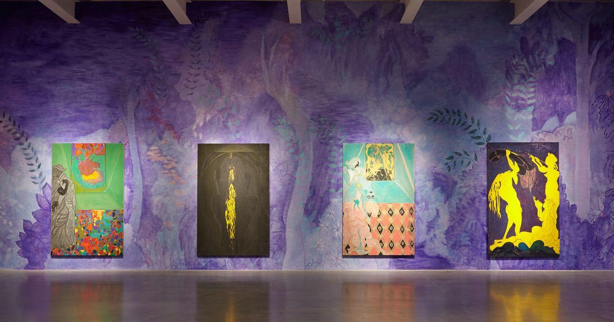 Chris Ofilis Glittering, Dung-Encrusted Paintings Return