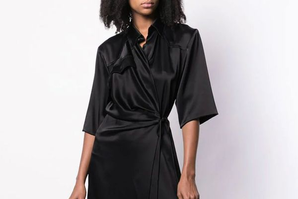 Nanushka Wrap Midi Dress