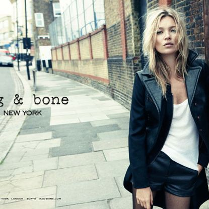 Kate Moss for rag & bone.