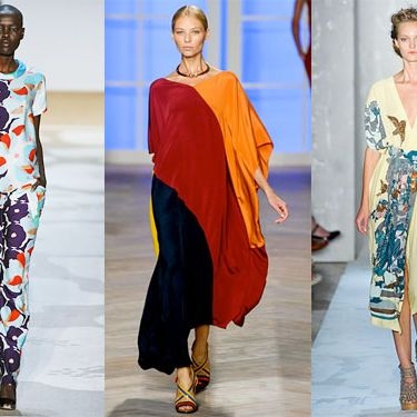 Looks from DVF, Tommy Hilfiger, and Suno.