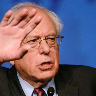 Democratic Presidential Candidate Bernie Sanders Campaigns At Pennsylvania's AFL-CIO Convention