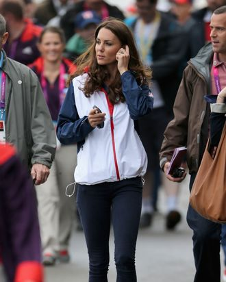 Kate Middleton, dressed to sweat.