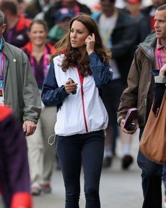 Kate Middleton, dressed to sweat.