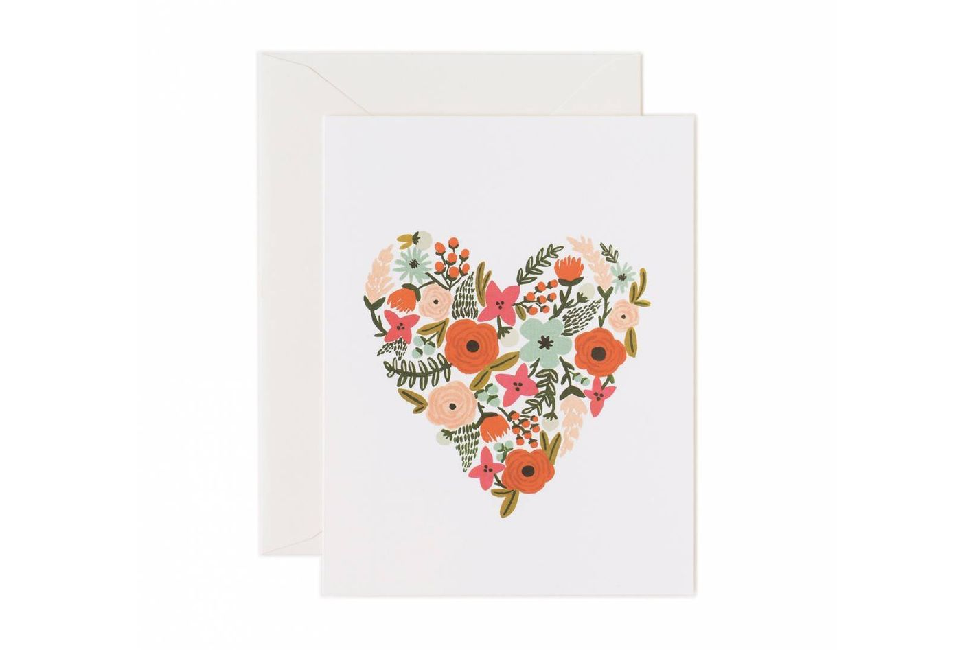 Valentine Floral Heart Note Cards by Rifle Paper Co. — Set of 8 Cards