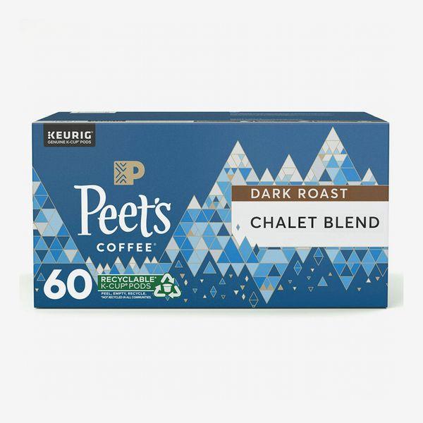 Peet's Coffee Chalet Blend Dark Roast Coffee K-Cup Keurig Pods (60-Count)
