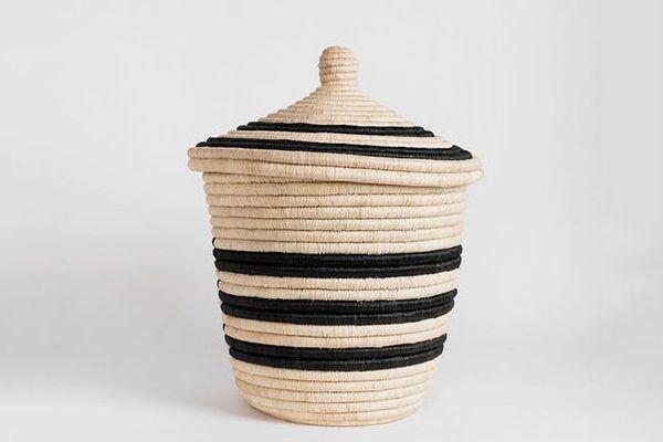 Rose & Fitzgerald Palm Spiral Basket