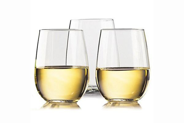 Unbreakable Stemless Wine Glasses, Set of 4