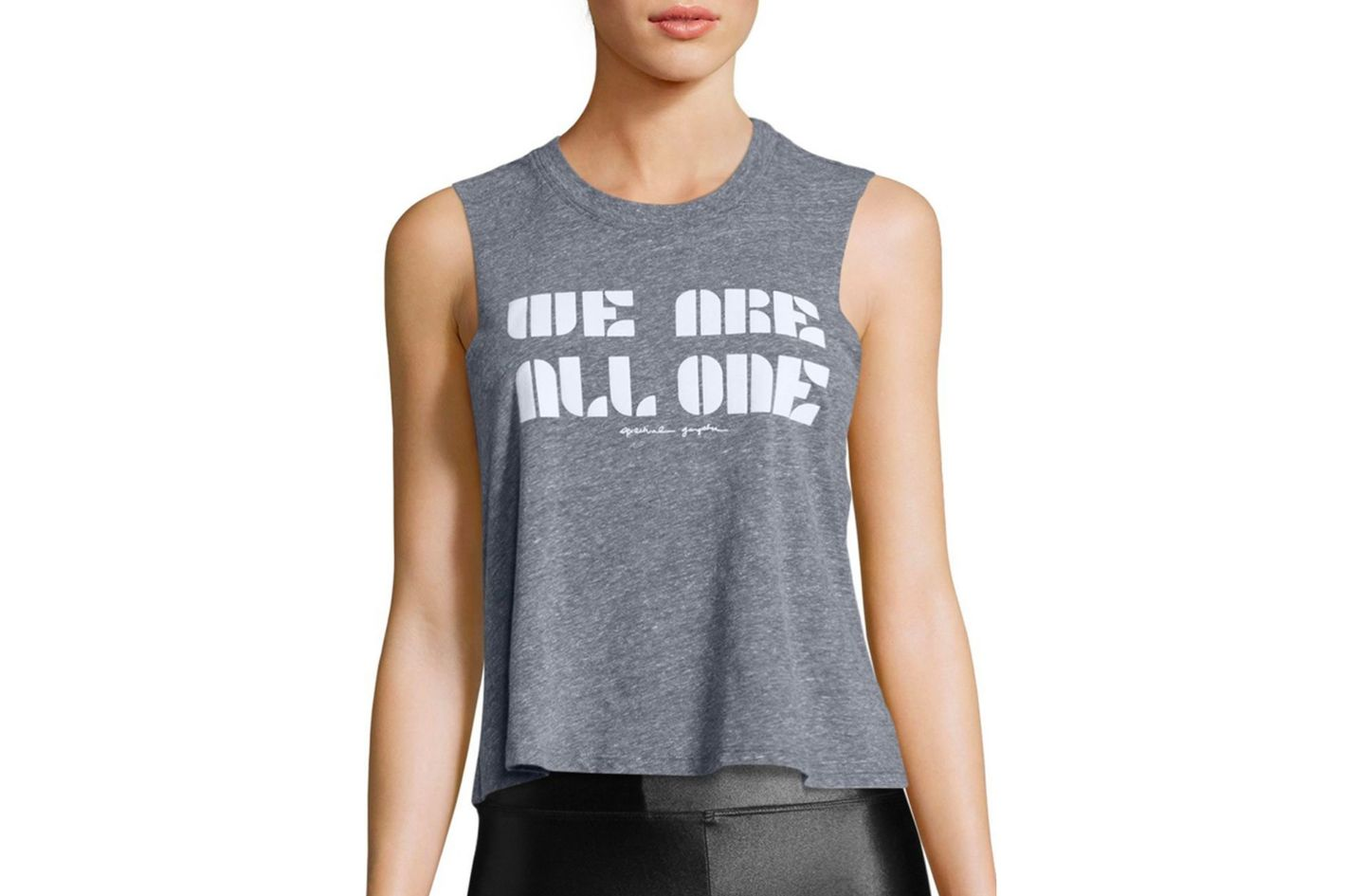 We Are All One Cropped Tank