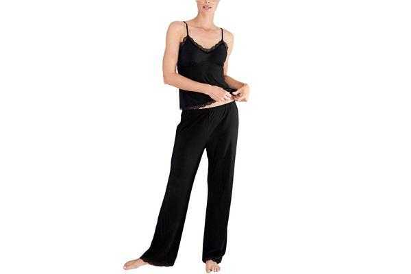 Velvet Trim Pajama Set