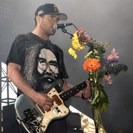 INDIO, CA - APRIL 12:  Jesse Lacey of Brand New performs during the 2015 Coachella Valley Music And Arts Festival at The Empire Polo Club on April 12, 2015 in Indio, California.  (Photo by Tim Mosenfelder/WireImage)