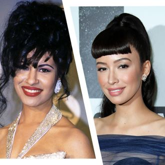 Selena Quintanilla and Christian Serratos.