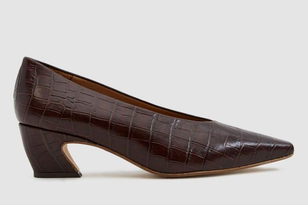 Miista Antonine Croc-Embossed Pump