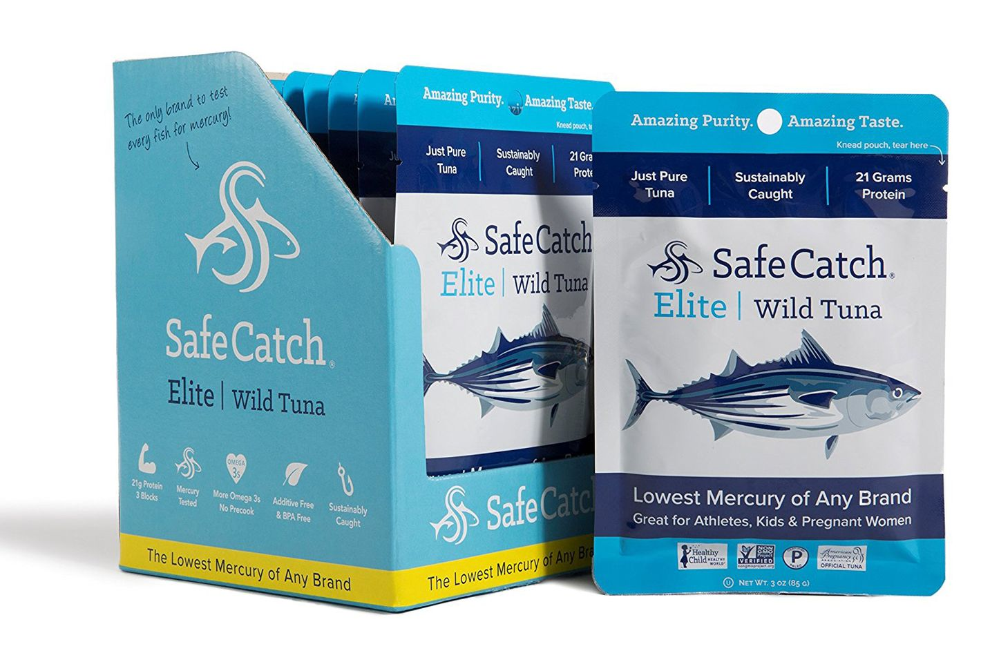 Safe Catch Elite Wild Tuna 3 oz Pouch, 12 pack
