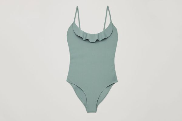 COS Frill Detail Swimsuit
