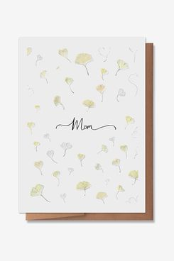 Wunderkid Ginko Leaf Mother's Day Card