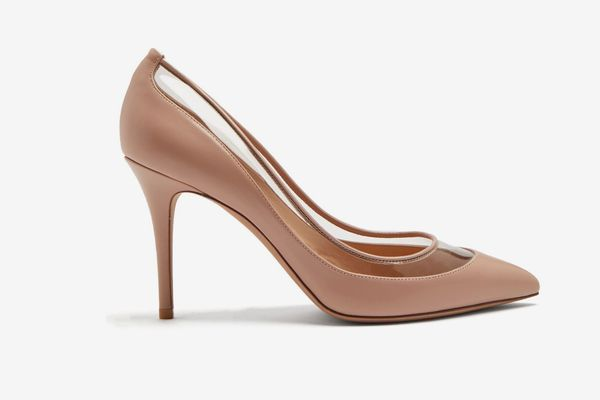 Valentino Glassglow Detachable-Bow Leather Pumps