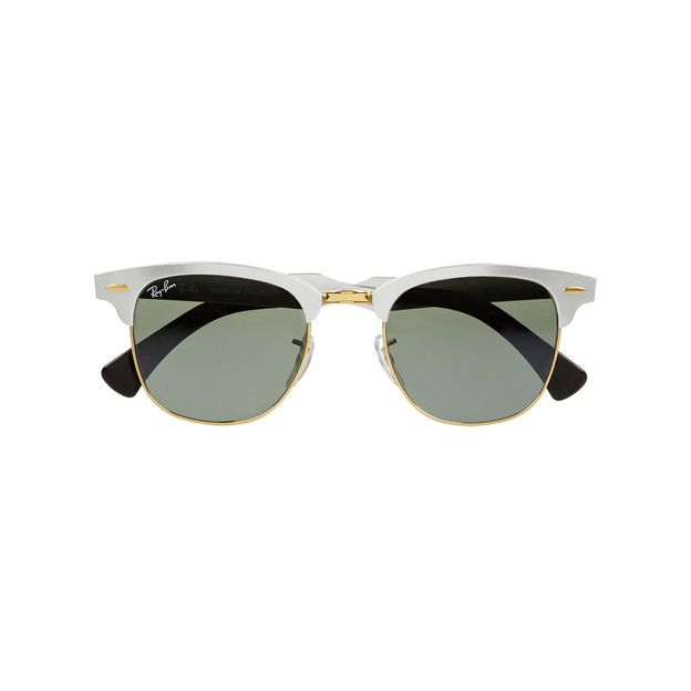 35c799e231 Ray Ban Clubmaster Sunglasses White Frame