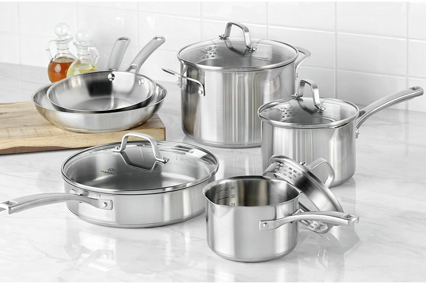 Calphalon Classic Stainless Steel Cookware Set, 10 Piece