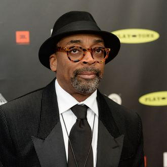 LOS ANGELES, CA - APRIL 18: Director Spike Lee arrives at the 28th Annual Rock and Roll Hall of Fame Induction Ceremony at Nokia Theatre L.A. Live on April 18, 2013 in Los Angeles, California. (Photo by Jason Merritt/Getty Images)