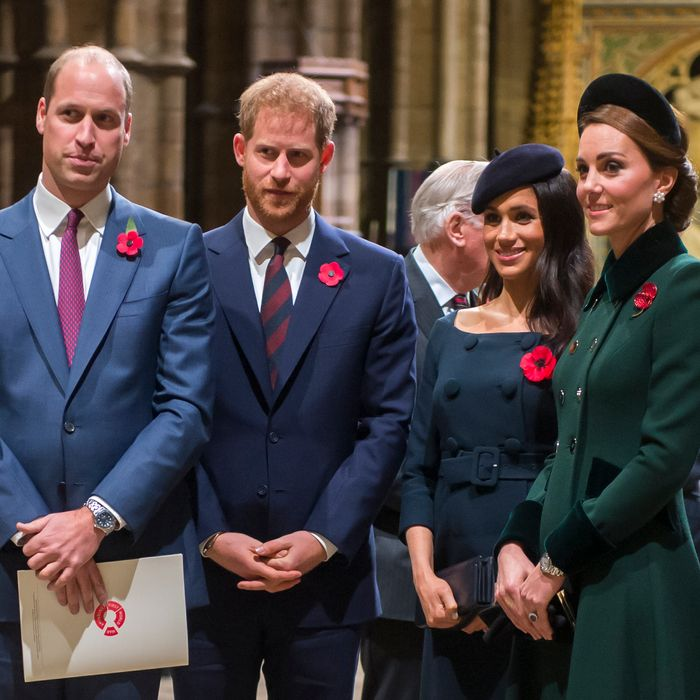 Prince William, Prince Harry, Meghan Markle and Kate Middleton.