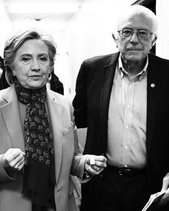 Hillary Clinton and Bernie Sanders.