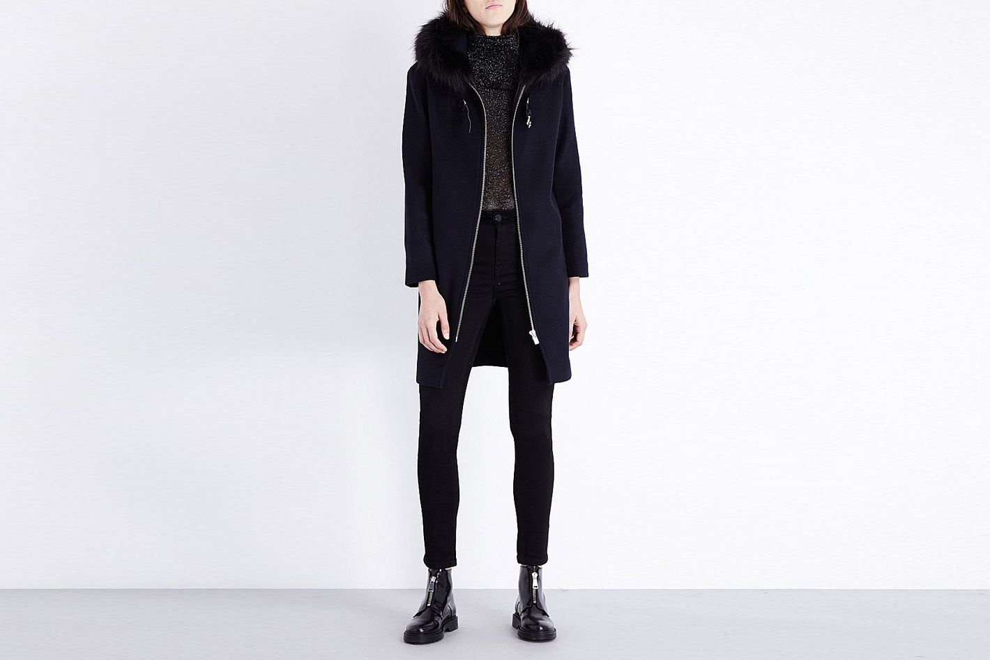 Maje Grafo Wool-Blend Coat
