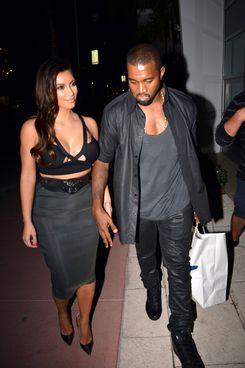 Kim Kardashian and the skirt.