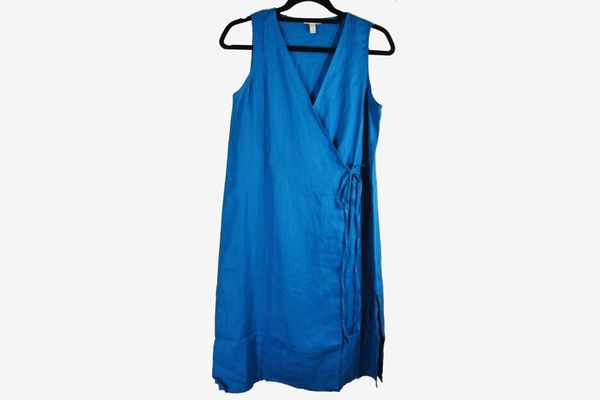Eileen Fisher Organic Handkerchief Long Wrap Tunic