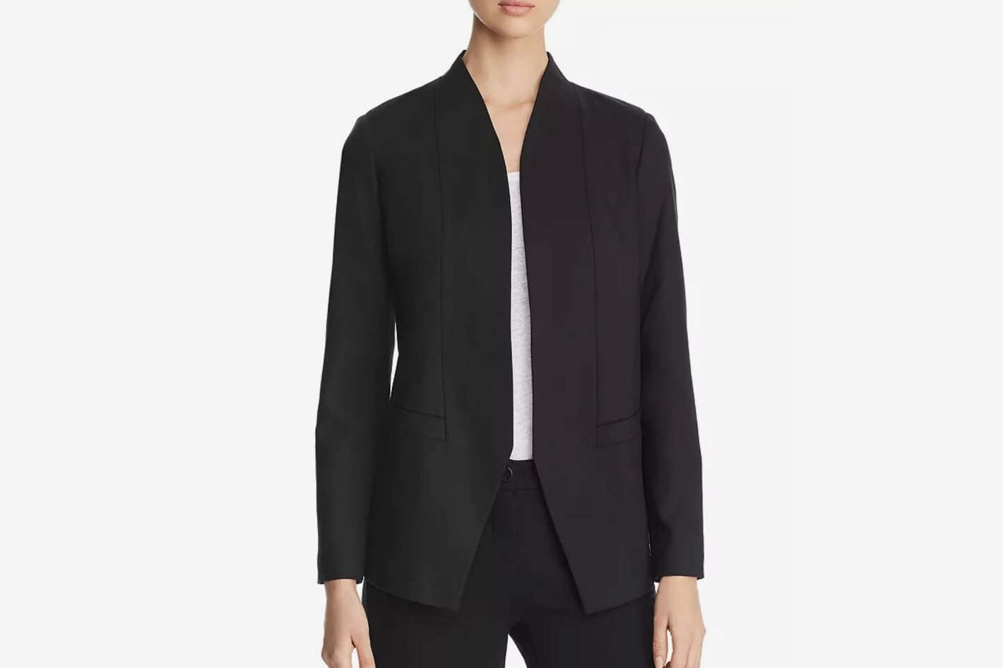 Eileen Fisher Stand-Collar Open Blazer