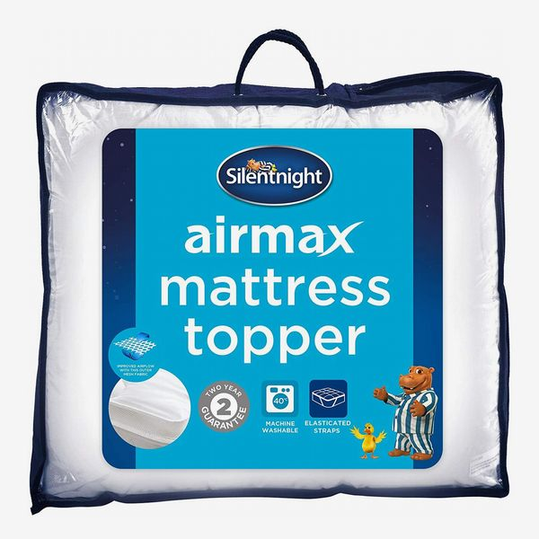 Silentnight Airmax Mattress Topper, Polyester, White, Double