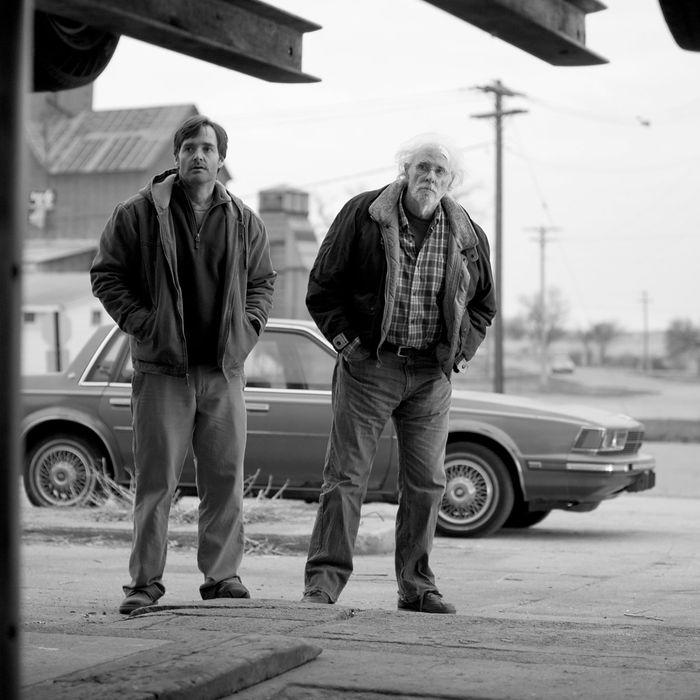 Will Forte is David Grant and Bruce Dern is Woody Grant in NEBRASKA