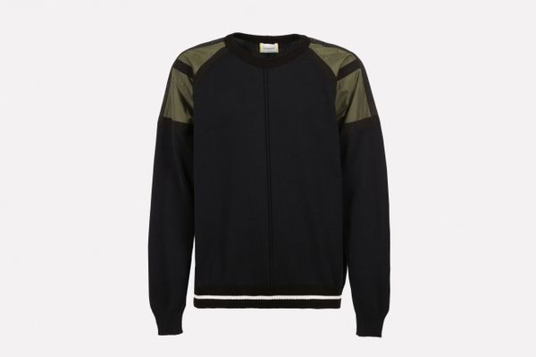 Crew-neck Pullover With Inserts