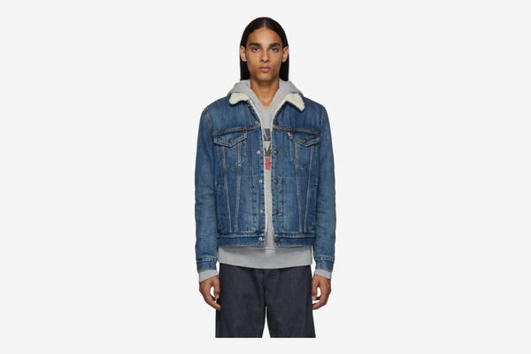 Levis Blue Sherpa Type 3 Trucker Jacket