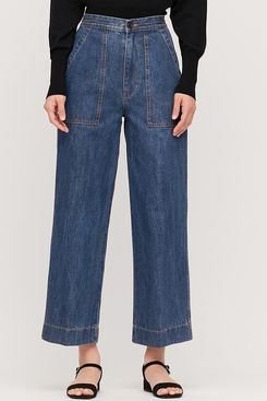 Uniqlo Women U Denim Relaxed Ankle Pants