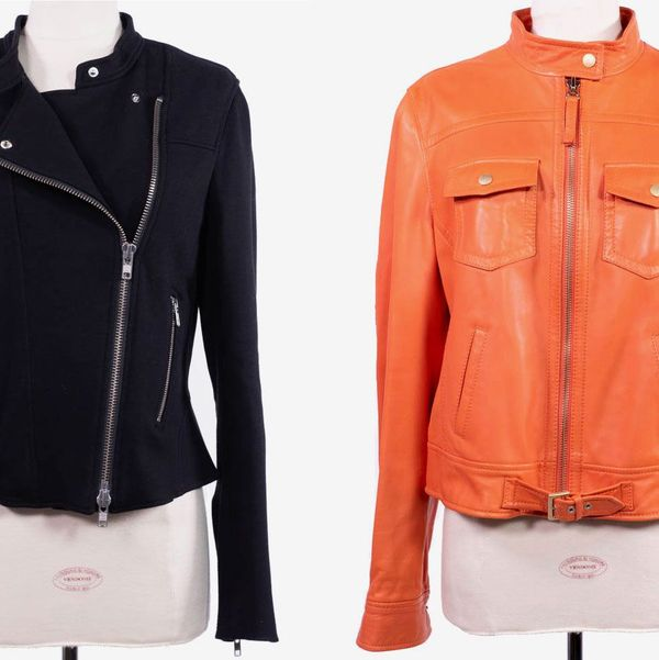 "Two ""Signature"" Leather Jackets From Theory and Escada Sport Worn by Suze Orman"