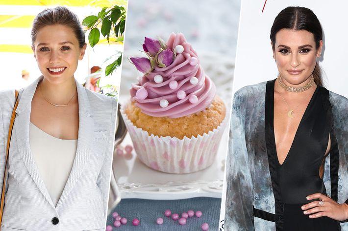 Elizabeth Olsen, mini cupcake, Lea Michele.