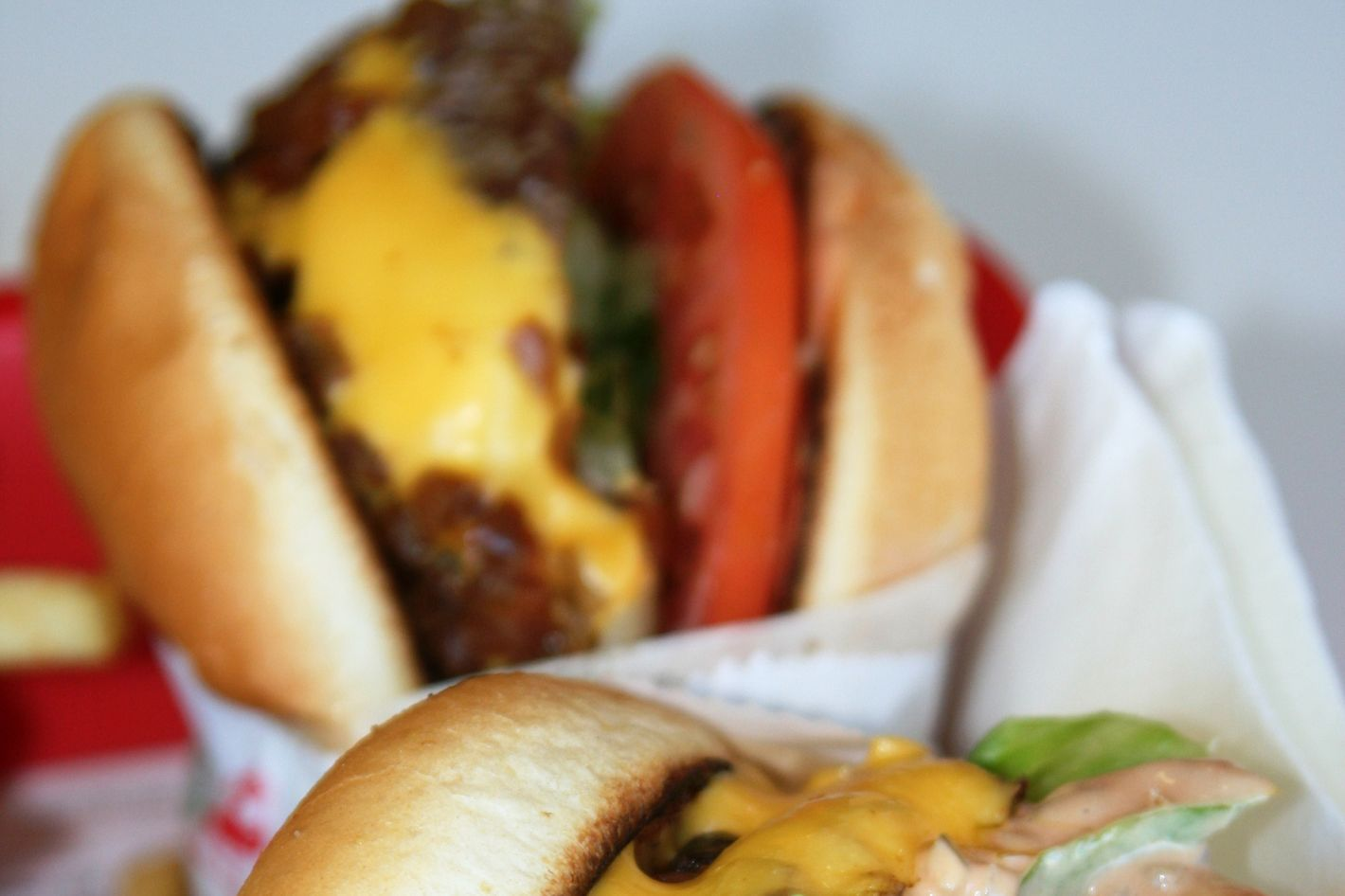In-N-Out's not-so-secret animal-style burger.