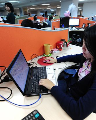To go with AFP story by Francois Bougon: LIFESTYLE-CHINA-US-IT-INTERNET-GOOGLE