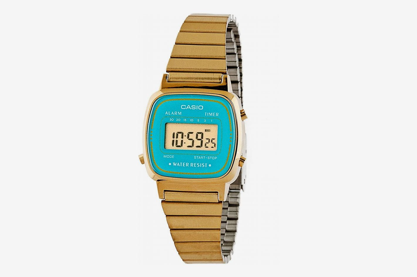 Casio Casio Gold & Teal Ladies Digital Watch