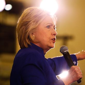 Democratic presidential candidate Hillary Clinton speaks at a campaign rally, June 1, 2016, in Newark, New Jersey.