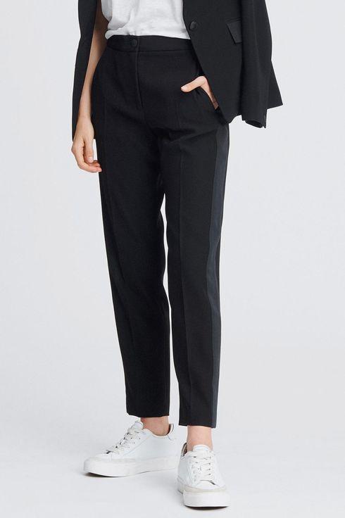 Vintage Women/'s Black Trousers Pants Size S