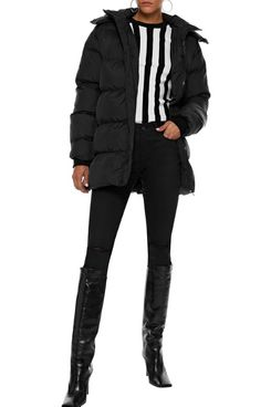 Walter Baker Monica Quilted Shell Hooded Coat