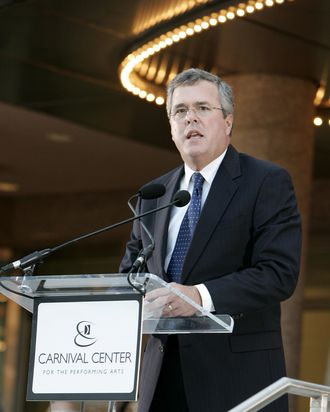 Governor Jeb Bush during Carnival Center Grand Opening Ceremony at Carnival Center for the Performing Arts in Miami, Florida, United States.