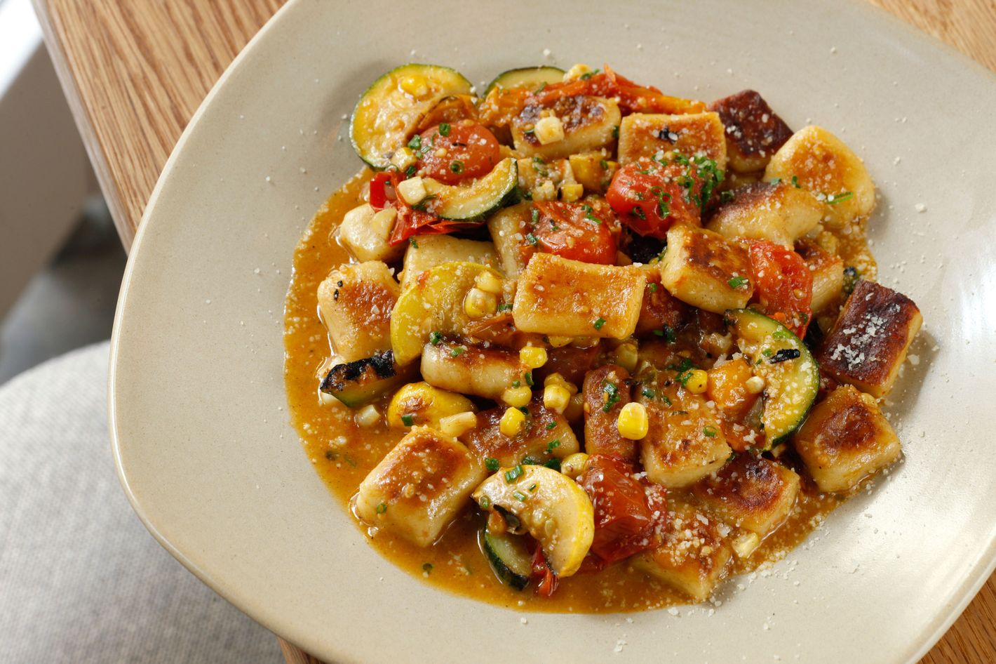 Gnocchi with summer vegetables. Photo: Melissa Hom