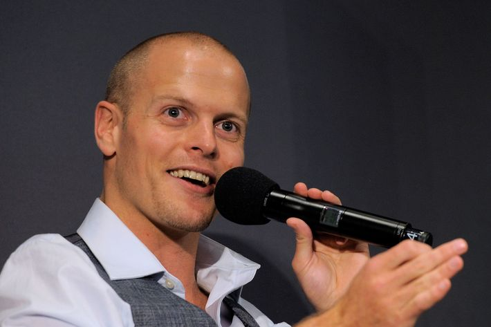 Author Tim Ferriss speaks during the Meet the Author: Tim Ferriss